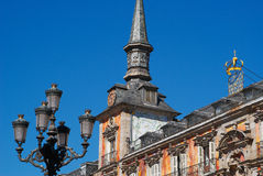 Historic buildings with lace fronts of Madrid Royalty Free Stock Photos