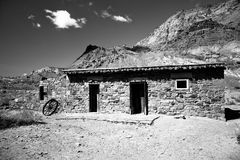 Historic Buildings at Lees Ferry. Lees Ferry is the only place within Glen Canyon where visitors can drive to the Colorado River in over 700 miles of Canyon royalty free stock photo