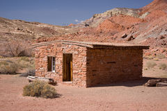 Historic Buildings at Lees Ferry. Lees Ferry is the only place within Glen Canyon where visitors can drive to the Colorado River in over 700 miles of Canyon stock image
