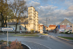 Historic buildings in Lidzbark Warminski Royalty Free Stock Photography