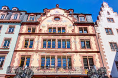 Historic buildings in Mainz. Historic buildings in the old town of Mainz at market square Stock Photo