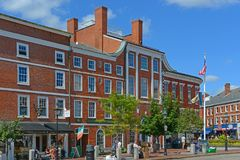 Market Square, Portsmouth, New Hampshire, USA. Historic buildings on Market Square in downtown Portsmouth, New Hampshire, USA Stock Images