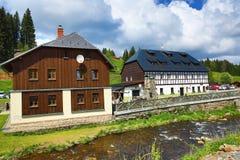 Historic buildings, Modrava,  Bohemian Forest, (czech: Šumava) Czech republic Royalty Free Stock Photography