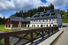 Historic buildings, Modrava,  Bohemian Forest, (czech: Šumava) Czech republic Royalty Free Stock Images