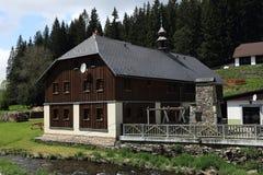 Historic buildings, Modrava,  Bohemian Forest, (czech: Šumava) Czech republic Royalty Free Stock Image