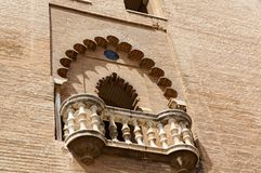 Historic buildings and monuments of Seville, Spain. Spanish architectural styles of Gothic and Mudejar, Baroque. Historic buildings and monuments of Seville royalty free stock image