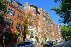 Historic Buildings on Beacon Hill, Boston, USA. Historic Buildings on Mt Vernon Street at Cedar Ln Way on Beacon Hill, Boston, Massachusetts, USA stock photo