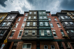 Historic buildings in the North End of Boston, Massachusetts. royalty free stock photo