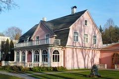Historic buildings in Ogre. In the popular health resort of Ogre in central Latvia Stock Photography