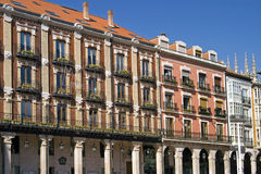 Historic buildings in old town of the city Burgos Stock Image