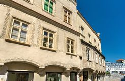 Historic buildings in the old town of Krems an der Donau, Austria. Historic buildings in the old town of Krems an der Donau, a UNESCO heritage site in Austria Royalty Free Stock Image