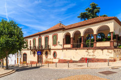 Historic buildings in old town of Silves Stock Photos
