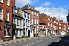 Historic Buildings, Tewkesbury, Gloucestershire, UK. Historic Buildings opposite the Abbey in Tewkesbury, Gloucestershire, England, UK stock photos