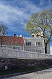 Historic buildings in Oslo in the spring. royalty free stock images