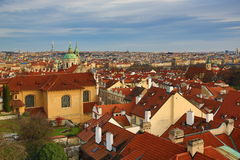 Historic buildings, Panorama of Prague, Czech Republic Stock Photo