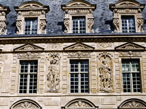HIstoric buildings Paris Le Marais area stock photo