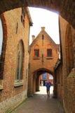 Historic buildings passage Bruges Belgium Stock Image