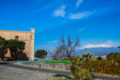The historic buildings of Paterno. Sicily Stock Photos
