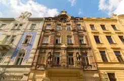 Historic Buildings in Plzen, Art Nouveau, Jugendstil,  Czech Rep Royalty Free Stock Photo