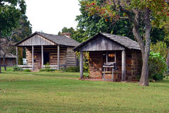 Historic Buildings at Prairie Grove State Park. Historic buildings are on display at Prairie Grove Battlefield State Park in Arkansas Royalty Free Stock Photography