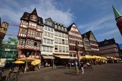 Historic buildings on the RÖMERBERG hill in Frankfurt on the Main, Germany Stock Photos