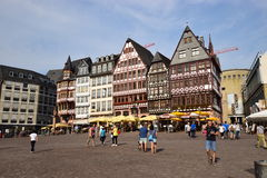 Historic buildings on the RÖMERBERG hill in Frankfurt on the Main, Germany Royalty Free Stock Images