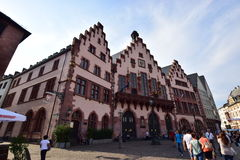 Historic buildings on the RÖMERBERG hill in Frankfurt on the Main, Germany Stock Photos