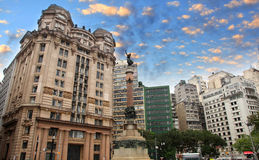Historic buildings in Sao Paulo Royalty Free Stock Images