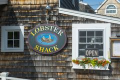 Historic buildings in Ogunquit, ME, USA Royalty Free Stock Images