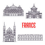 Historic buildings and sightseeings of France Stock Photo