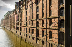 Historic buildings in the Speicherstadt in Hamburg, Germany Royalty Free Stock Photos
