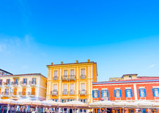 Historic buildings on square Royalty Free Stock Image