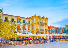 Historic buildings on square Royalty Free Stock Photography
