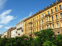 The historic buildings of St. Petersburg. Russia. Beautiful historic buildings of Saint Petersburg. Summer in St. Petersburg. Sunny day Royalty Free Stock Photography