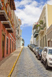 Historic Buildings and Street. Historic Puerto Rico Buildings and Street Royalty Free Stock Image