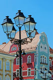 Historic buildings and street lamp Royalty Free Stock Image
