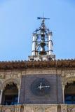 Historic buildings in Tarazona de Aragon, Saragossa, Spain. Bell tower of the renaissance-style town hall in Tarazona de Aragon, Saragossa, Spain Royalty Free Stock Photo
