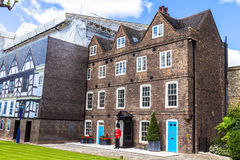 Historic buildings at Tower of London historic castle on the north bank of the River Thames in central London Stock Photography