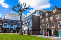 Historic buildings at Tower of London historic castle on the north bank of the River Thames in central London Stock Photo