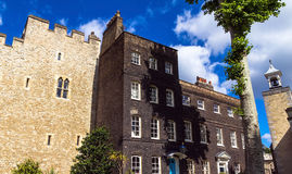 Historic buildings at Tower of London historic castle on the north bank of the River Thames in central London Royalty Free Stock Image