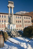 Historic buildings in the town of Bormio Royalty Free Stock Photos