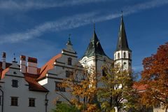 Town Hall & Cathedral of St. Jacob, Levoca, Slovakia Royalty Free Stock Photos