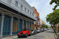 Ursulines Avenue in French Quarter, New Orleans Royalty Free Stock Photo