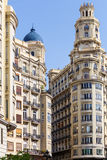 Historic buildings in Valencia Royalty Free Stock Photo