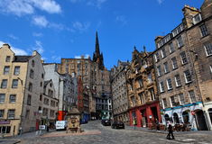 Historic buildings on Victoria St. Edinburgh. UK. Stock Photos