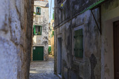 Historic buildings of Vodice, Croatia Royalty Free Stock Photography