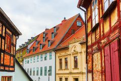 Historic buildings in Wolgast, Mecklenburg Western Pomerania, Germany. Picture of historic buildings in Wolgast, Mecklenburg Western Pomerania, Germany Stock Image