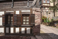 The historic burgher house Bäck black in Altensteig Stock Photos