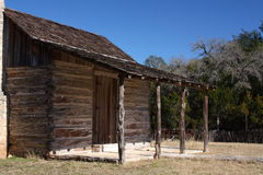 Historic cabin porch Royalty Free Stock Photography