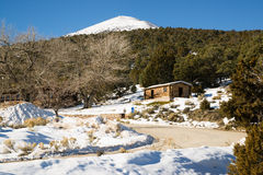 Historic Cabin Winter Day Great Basin National Park Southwest US royalty free stock photography